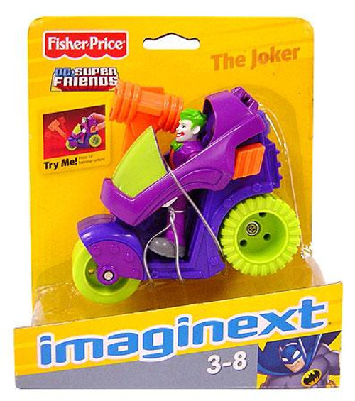 Fisher Price DC Super Friends Batman Imaginext Joker & Motorcycle 3-Inch Figure Set