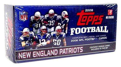 NFL New England Patriots 2008 Topps Football Cards Exclusive Complete Set [New England Patriots] [Factory Sealed]