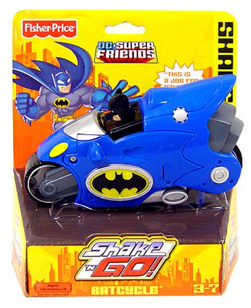 Fisher Price DC Super Friends Batman Shake N Go Batcycle 3-Inch Figure Set