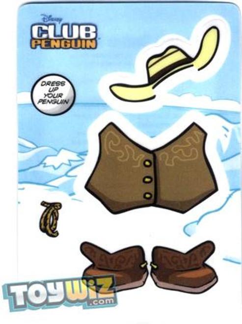 Club Penguin Cowboy Redemption Sticker Card B1