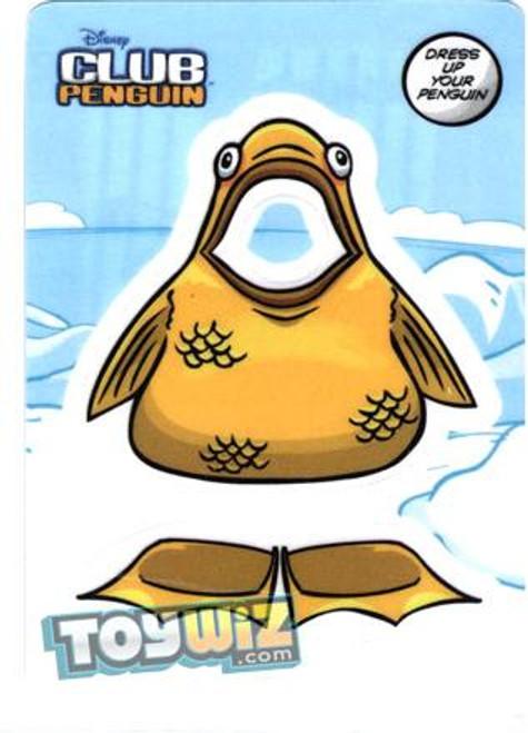 Club Penguin Gold Fish Redemption Sticker Card B3