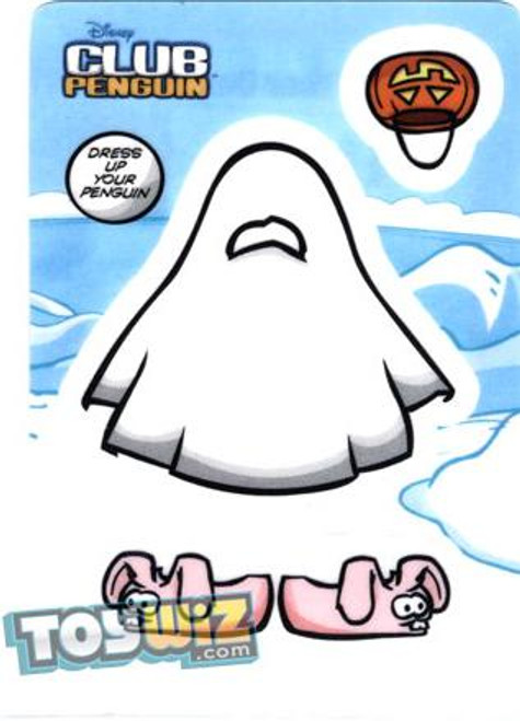 Club Penguin Ghost Redemption Sticker Card B4