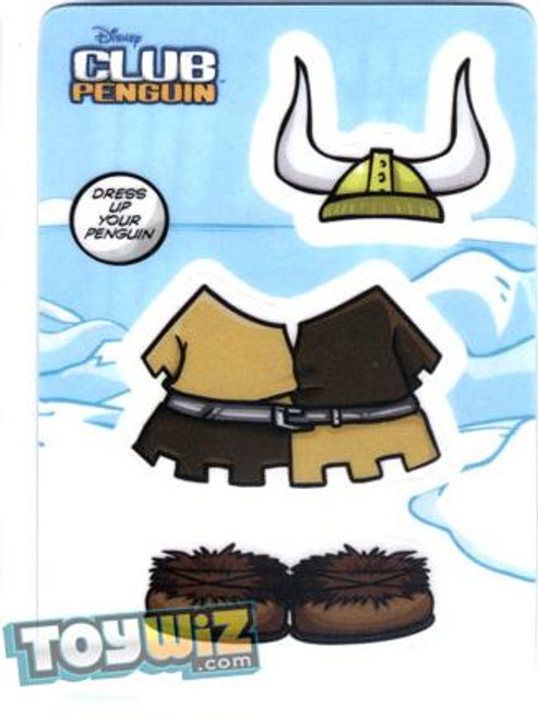 Club Penguin Viking Redemption Sticker Card B9