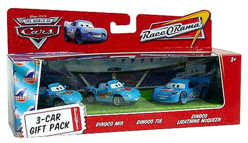 Disney Cars The World of Cars Multi-Packs Dinoco 3-Car Gift Pack Diecast Car Set