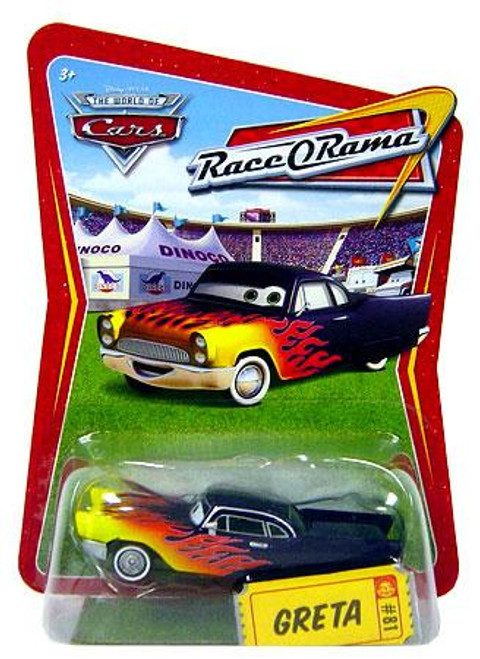 Disney Cars The World of Cars Race-O-Rama Greta Diecast Car #81