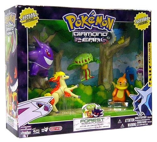 Pokemon Diamond & Pearl Forest Scene Exclusive Playset