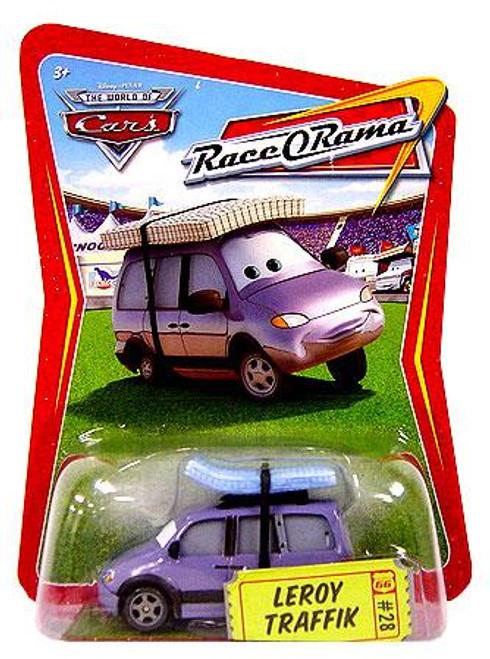 Disney Cars The World of Cars Race-O-Rama Leroy Traffik Diecast Car #28