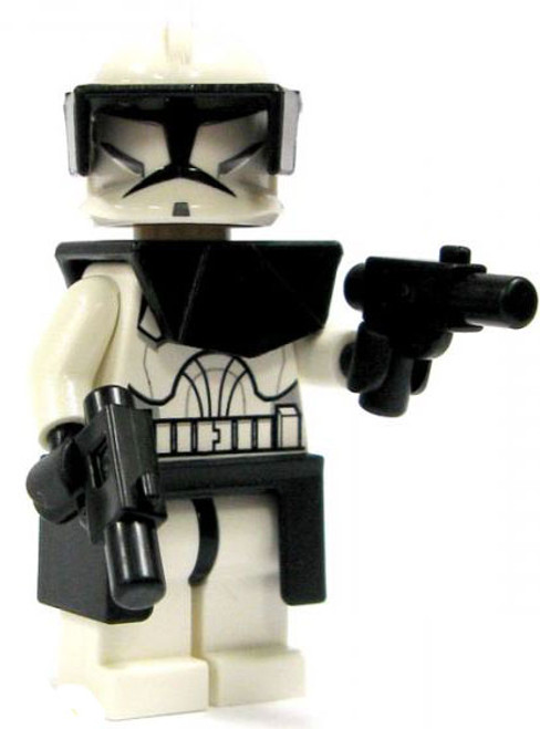 LEGO Star Wars Loose Clone Commander Minifigure [Black Gear Loose]