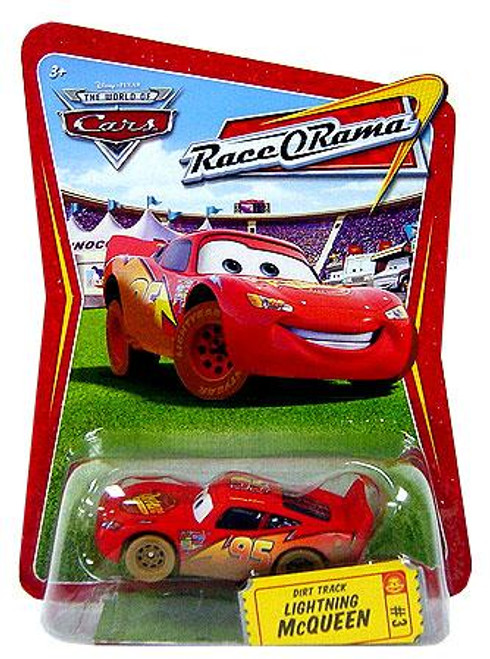 Disney Cars The World of Cars Race-O-Rama Dirt Track Lightning McQueen Diecast Car #3