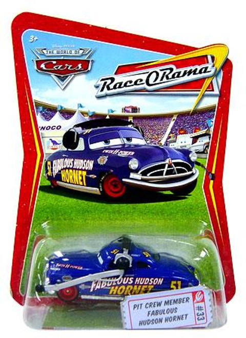 Disney Cars The World of Cars Race-O-Rama Pit Crew Member Fabulous Hudson Hornet Diecast Car #33