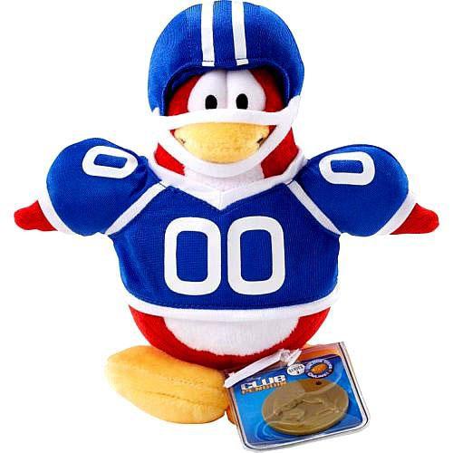 Club Penguin Series 2 Football Player 6.5-Inch Plush Figure [Blue Uniform]