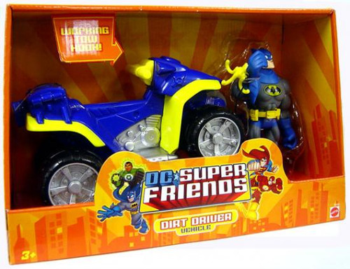 DC Super Friends Batman with Dirt Driver Action Figure Vehicle