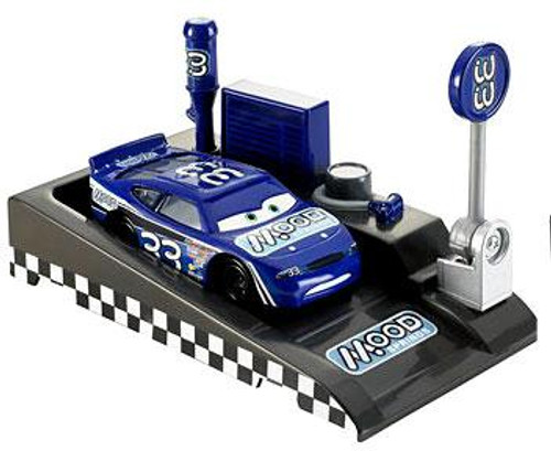 Disney Cars Pit Row Race-Off Mood Springs No. 33 Diecast Car [Includes Launcher]