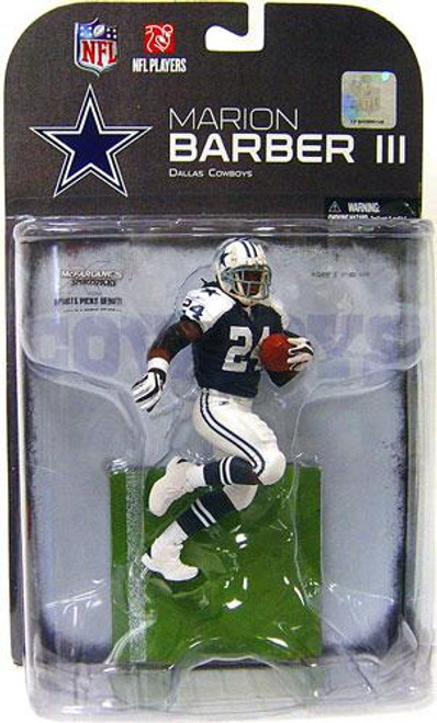 McFarlane Toys NFL Dallas Cowboys Sports Picks Series 19 Marion Barber Exclusive Action Figure [Blue Jersey Variant]