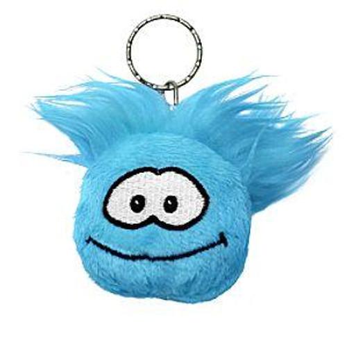 Club Penguin Blue Puffle 2-Inch Plush Keychain