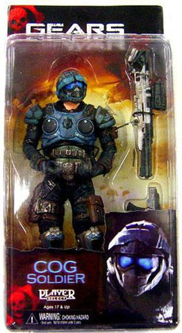 NECA Gears of War Series 3 COG Soldier Action Figure [Sniper Rifle & Lancer]