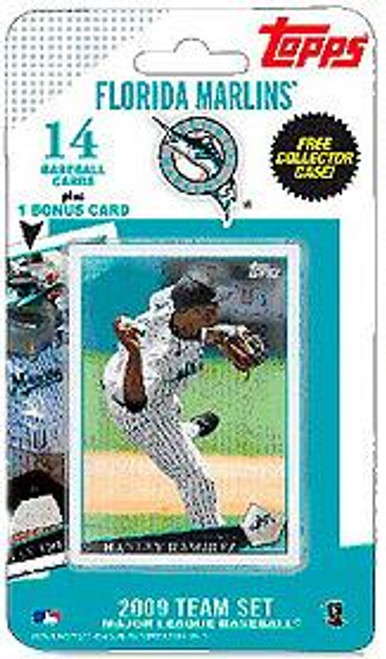 MLB 2009 Topps Baseball Cards Florida Marlins Team Set [Includes Billy the Marlin Card]