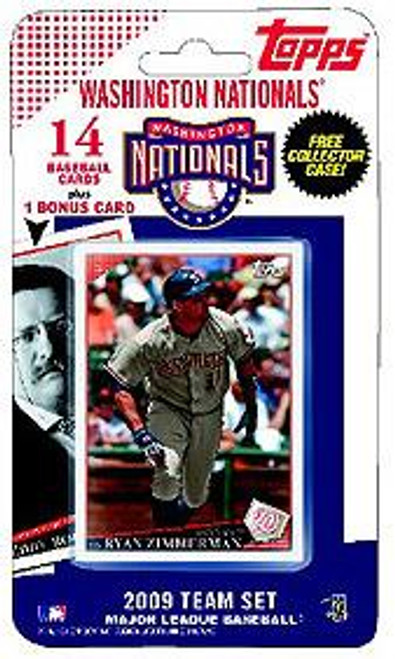 MLB 2009 Topps Baseball Cards Washington Nationals Team Set [Includes Teddy Roosevelt Card]