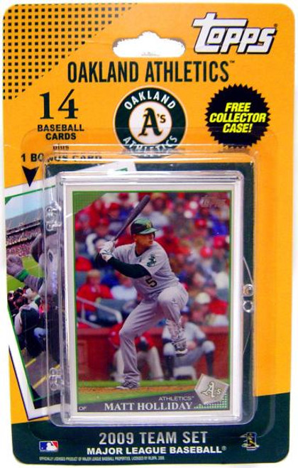 MLB Oakland A's 2009 Topps Baseball Cards Oakland Athletics Team Set [Includes Team Mascot Card]