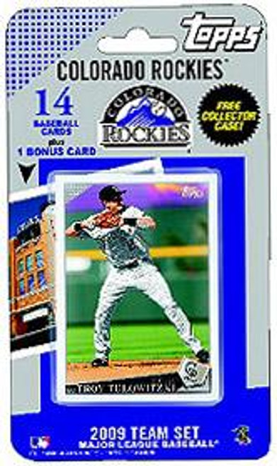 MLB 2009 Topps Baseball Cards Colorado Rockies Team Set [Includes Coors Field Card]