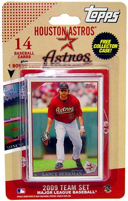MLB 2009 Topps Baseball Cards Houston Astros Team Set [Includes Minute Maid Park Card]
