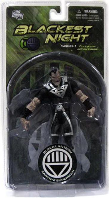 DC Green Lantern Blackest Night Series 1 Black Lantern Earth 2 Superman Action Figure