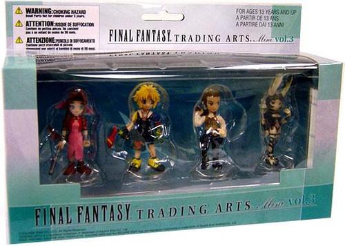 Final Fantasy X Trading Arts Vol. 3 Aerith Gainsborough, Tidus, Bathier & Fran Mini Figure 4-Pack