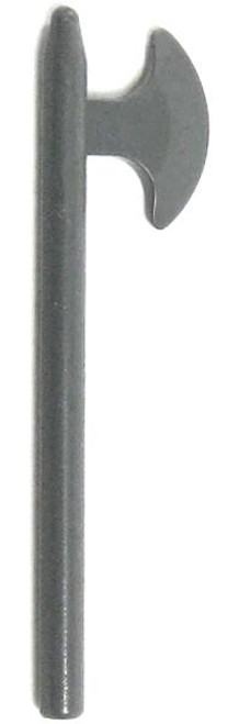 LEGO Castle Minifigure Parts Gray Pole Axe Loose Weapon #4506846 [Loose]