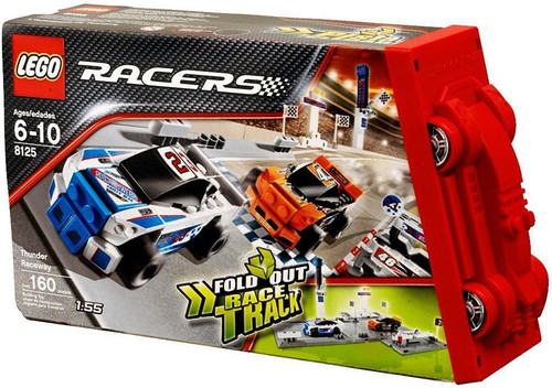 LEGO Racers Fold Out Race Tracks Thunder Raceway Set #8125
