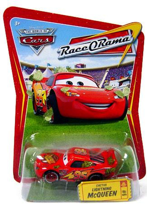 Disney Cars The World of Cars Race-O-Rama Cactus Lightning McQueen Diecast Car #6