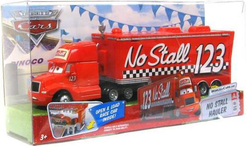 Disney Cars The World of Cars Deluxe Oversized No Stall Hauler Diecast Car Playset