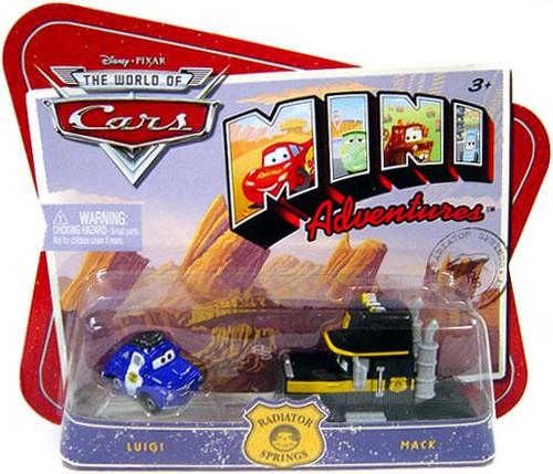 Disney Cars The World of Cars Mini Adventures Luigi & Mack Plastic Car 2-Pack
