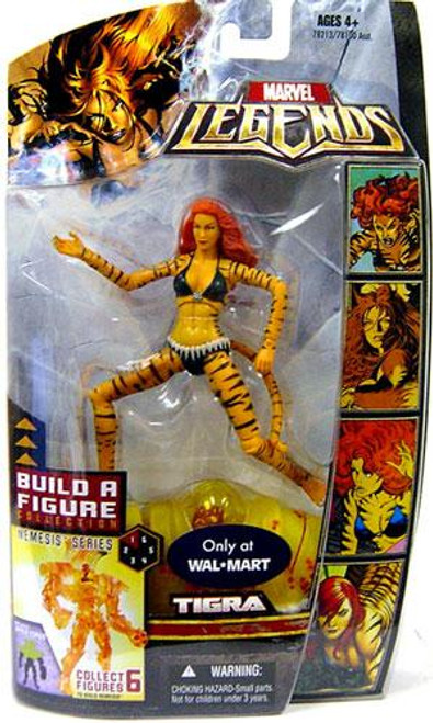 Marvel Legends Nemesis Build a Figure Tigra Exclusive Action Figure
