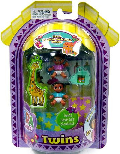 Fisher Price Dora the Explorer Magical Welcome House Twins Mini Figure 2-Pack