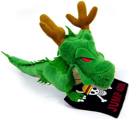 Dragon Ball X One Piece Shenron Dragon with Pirate Flag 6-Inch Plush