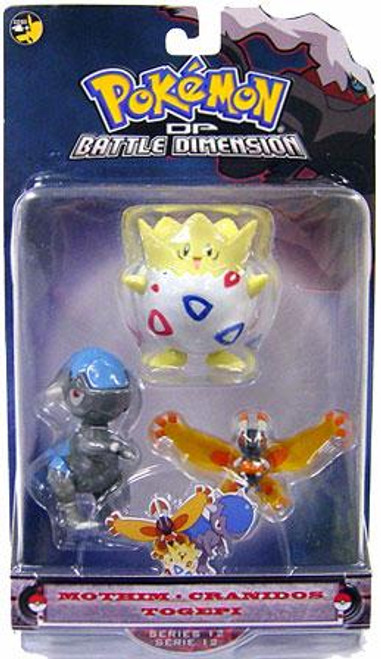 Pokemon Diamond & Pearl Series 12 Mothim, Cranidos & Togepi Figure 3-Pack