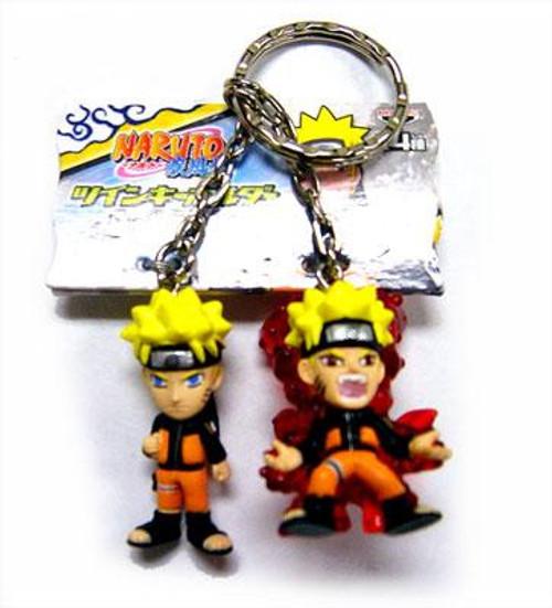 PVC Naruto & 9 Tailed Fox Naruto 1 1/2-Inch Keychain