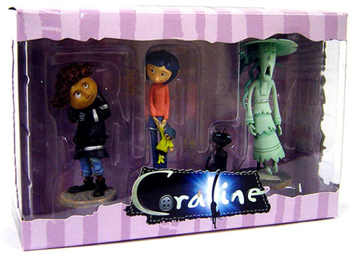 NECA Coraline 3-Inch PVC Figure 3-Pack [Striped Shirt]