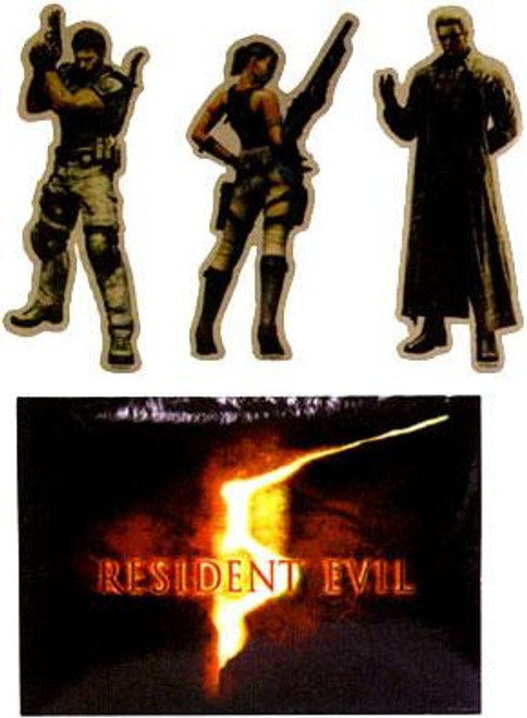 NECA Resident Evil 5 Character Art Set of 4 5-Inch Stickers