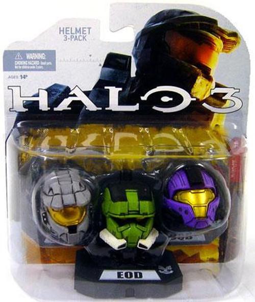 McFarlane Toys Halo Wave 1 Mark VI, EOD & CQB Helmet 3-Pack