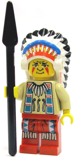 LEGO Loose Indian Chief Minifigure [Red Loose]