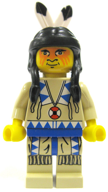 LEGO Loose Indian Brave Minifigure [Blue Loose]