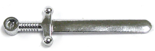 LEGO Castle Minifigure Parts Chrome Silver Sword Loose Weapon [Loose]