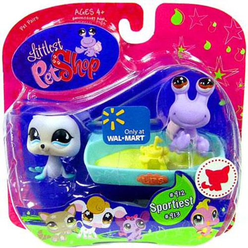 Littlest Pet Shop Pet Pairs Seal & Hermit Crab Exclusive Figure 2-Pack #912, 913