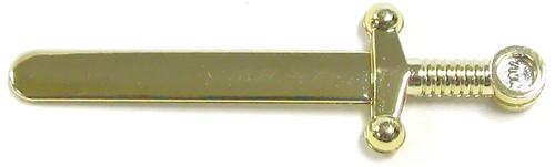 LEGO Castle Minifigure Parts Chrome Gold Sword Loose Weapon [Loose]