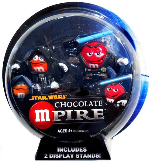 Star Wars M&Ms Chocolate Mpire Emperor Palpatine & Anakin Skywalker Action Figure 2-Pack