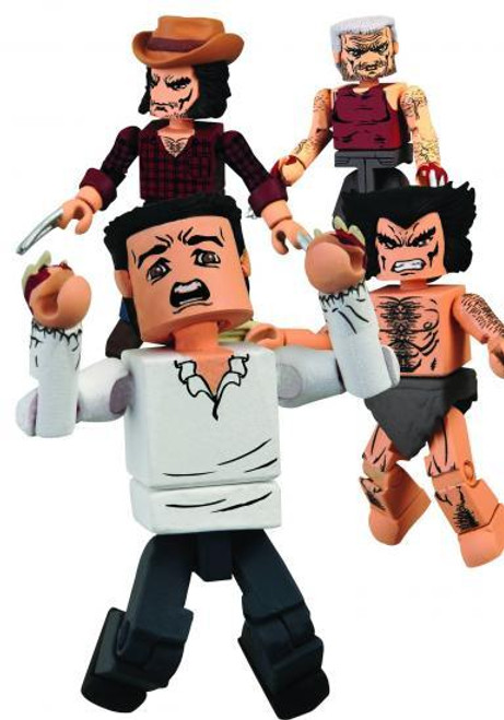Marvel Minimates Exclusives Wolverine Through the Ages Exclusive Minifigure 4-Pack
