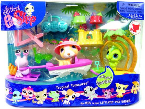Littlest Pet Shop Tropical Treasures Playset #358, 359, 360