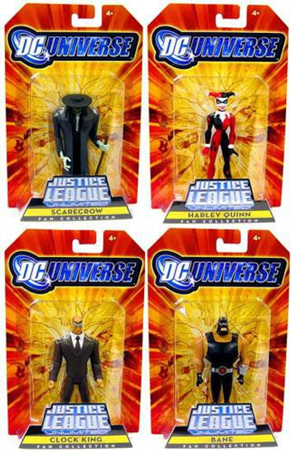DC Justice League Unlimited Gotham City Criminals Set of 4 Exclusive Action Figures
