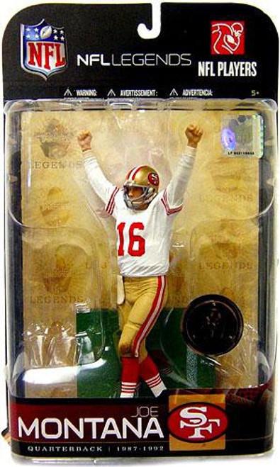 McFarlane Toys NFL San Francisco 49ers Sports Picks Legends Series 5 Joe Montana Exclusive Action Figure [White Jersey Variant]